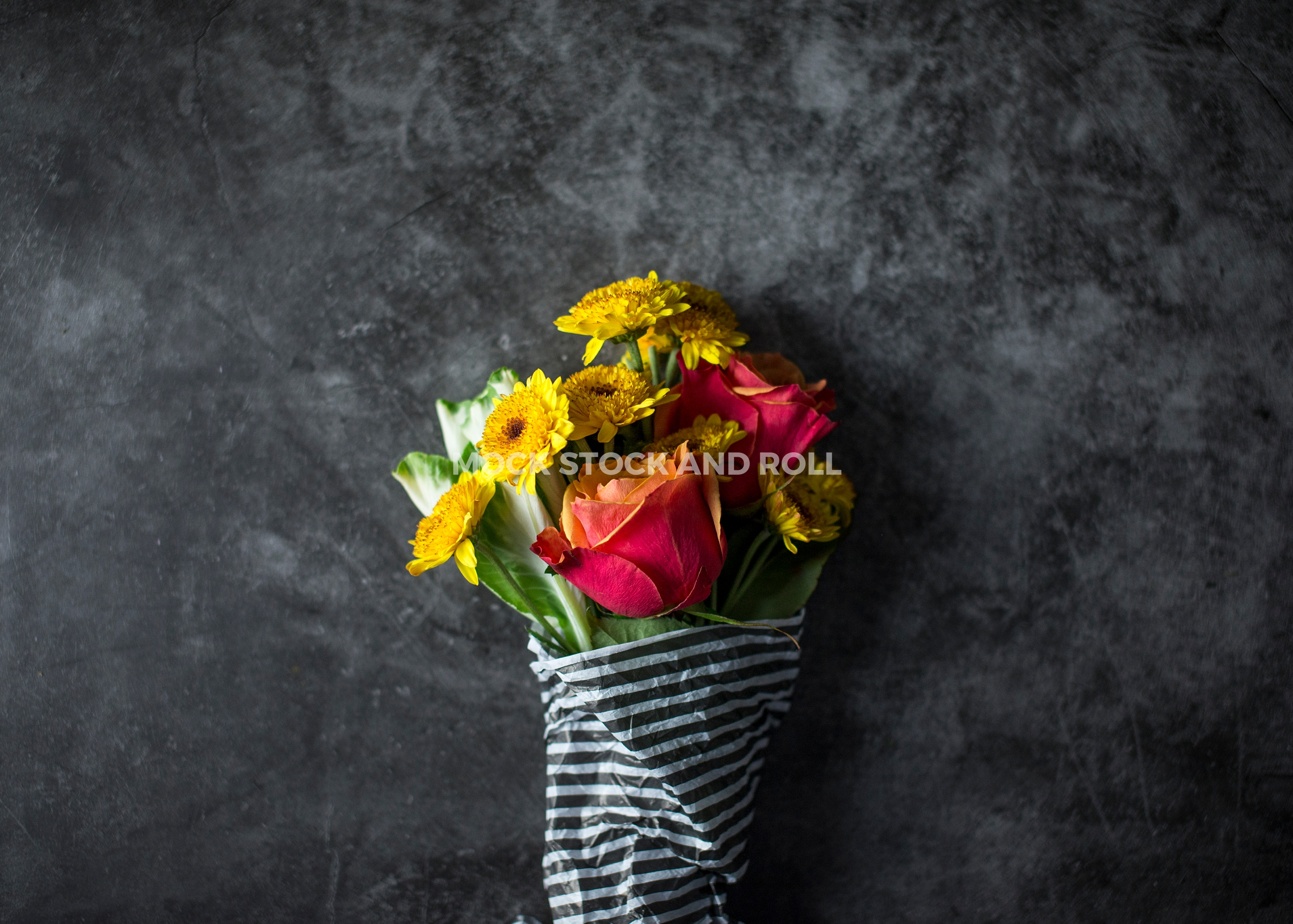 Gorgeous fall flower arrangement in this styled stock photo bundle from Mock Stock and Roll Photography.