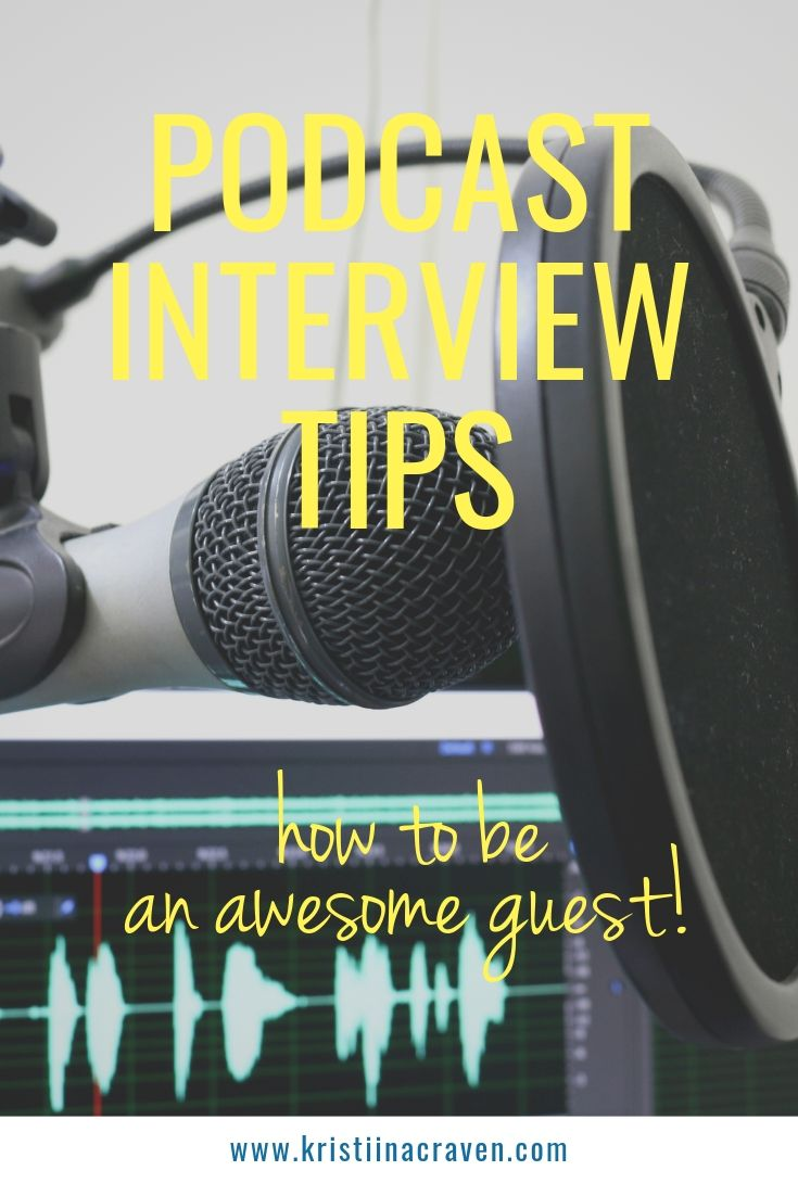Today is all about PODCAST INTERVIEW TIPS! Now that you've learned the process to finding podcasts and how to pitch to get interviewed on podcasts, we're covering tips on how to be an awesome guest! CLICK TO READ MORE! | kristiinacraven.com | Virtual Publicist | #podcastinterview #podcastinterviewtips #media #publicrelations