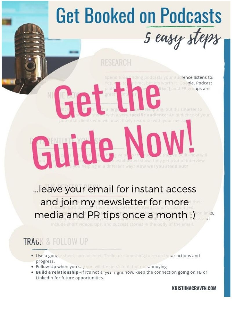 how+to+get+booked+on+podcasts+freebie+opt+in+graphic