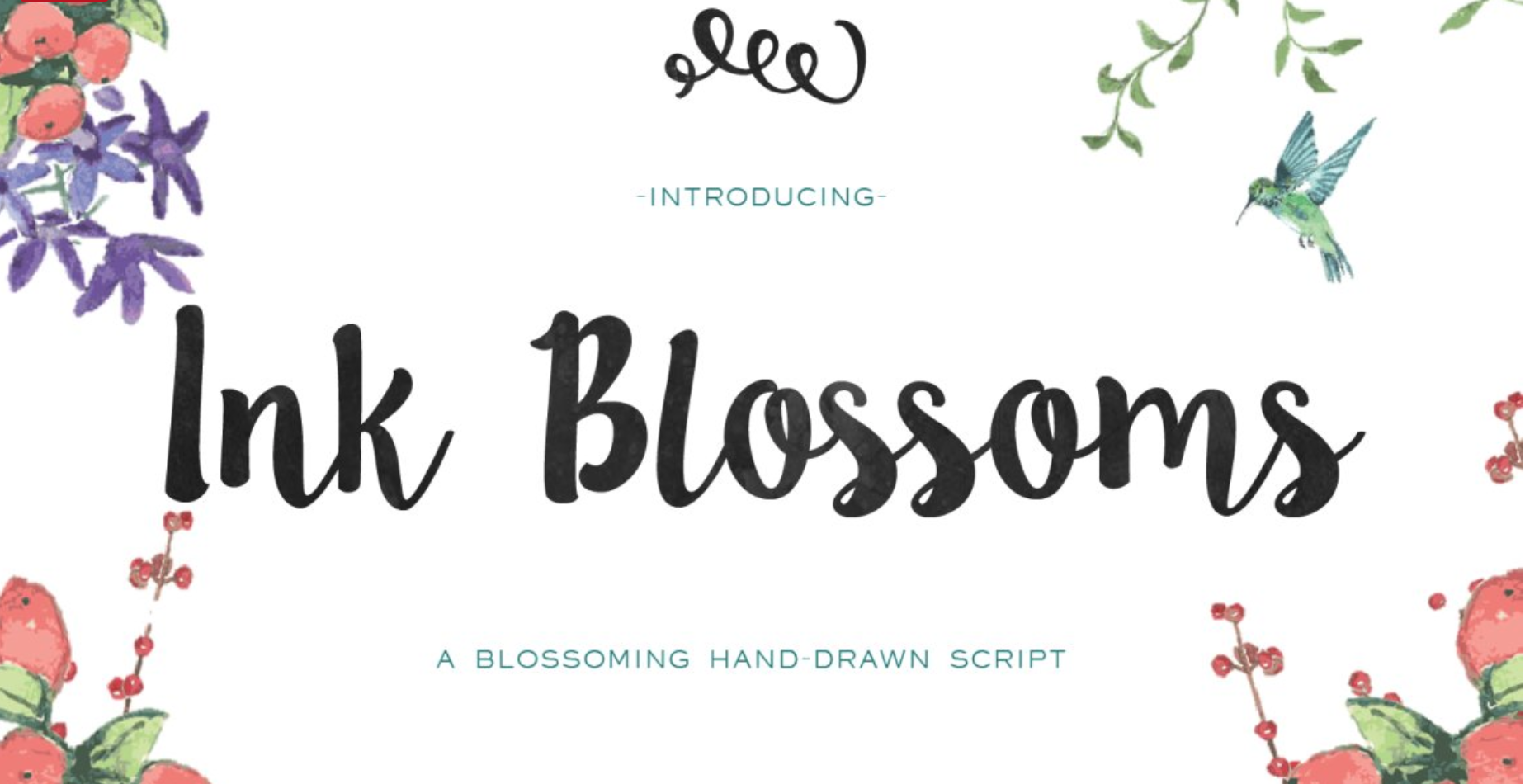 creative market ink blossoms brush font graphic