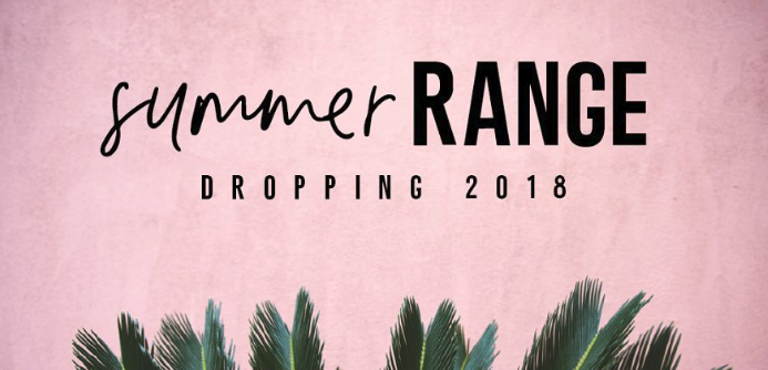 "pink background with greenery with the words ""summer Range"" to showcase a font pairing on creative market"