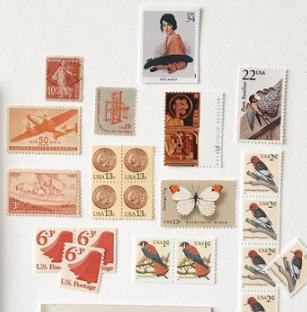 shop vintage stamps -