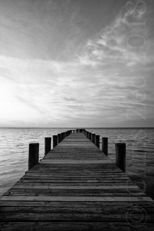 """Sunrise Dock in Grayscale"", 2011"