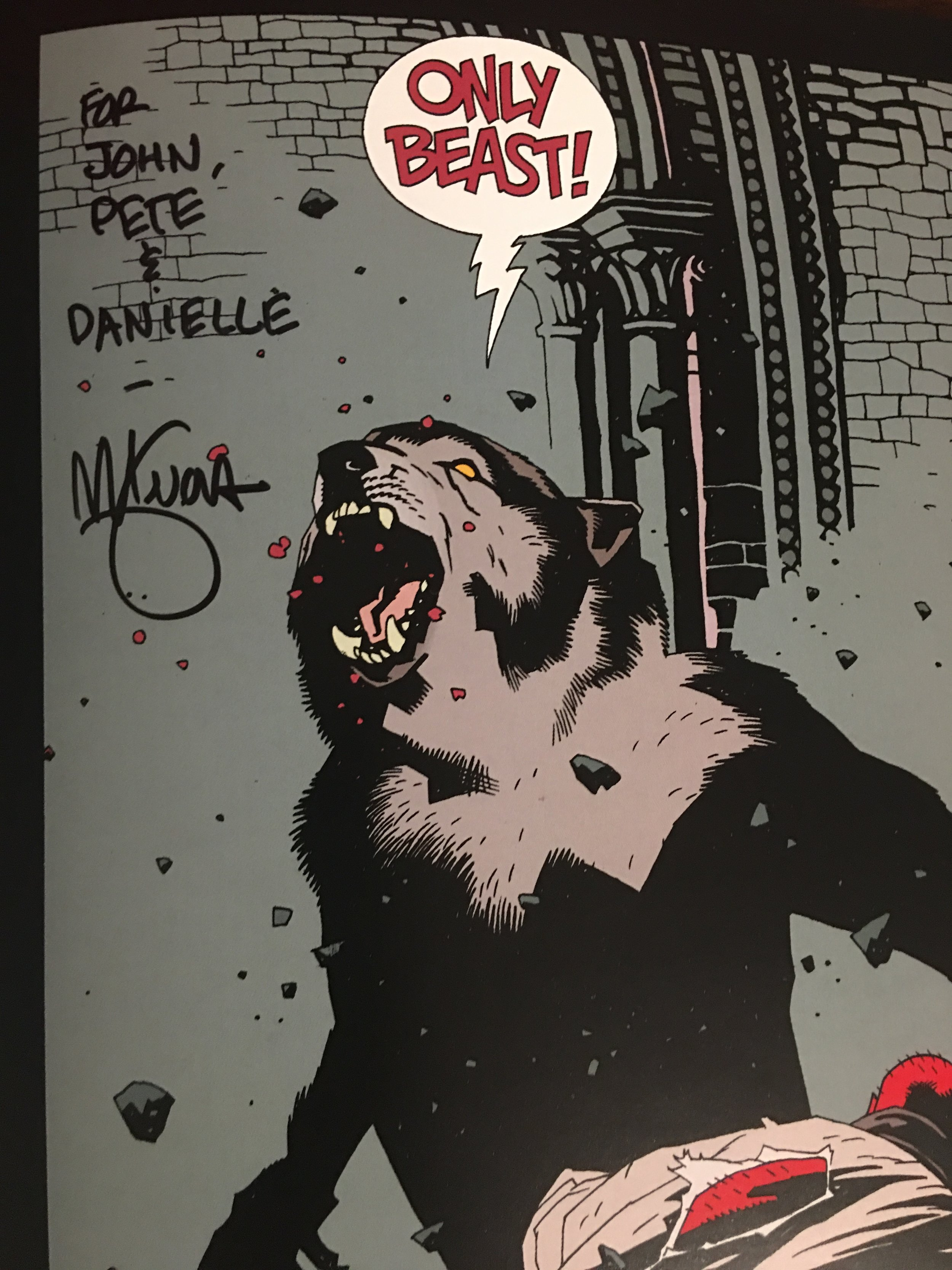 Co-Signed, you might say  Credit and Signature: Mike Mignola