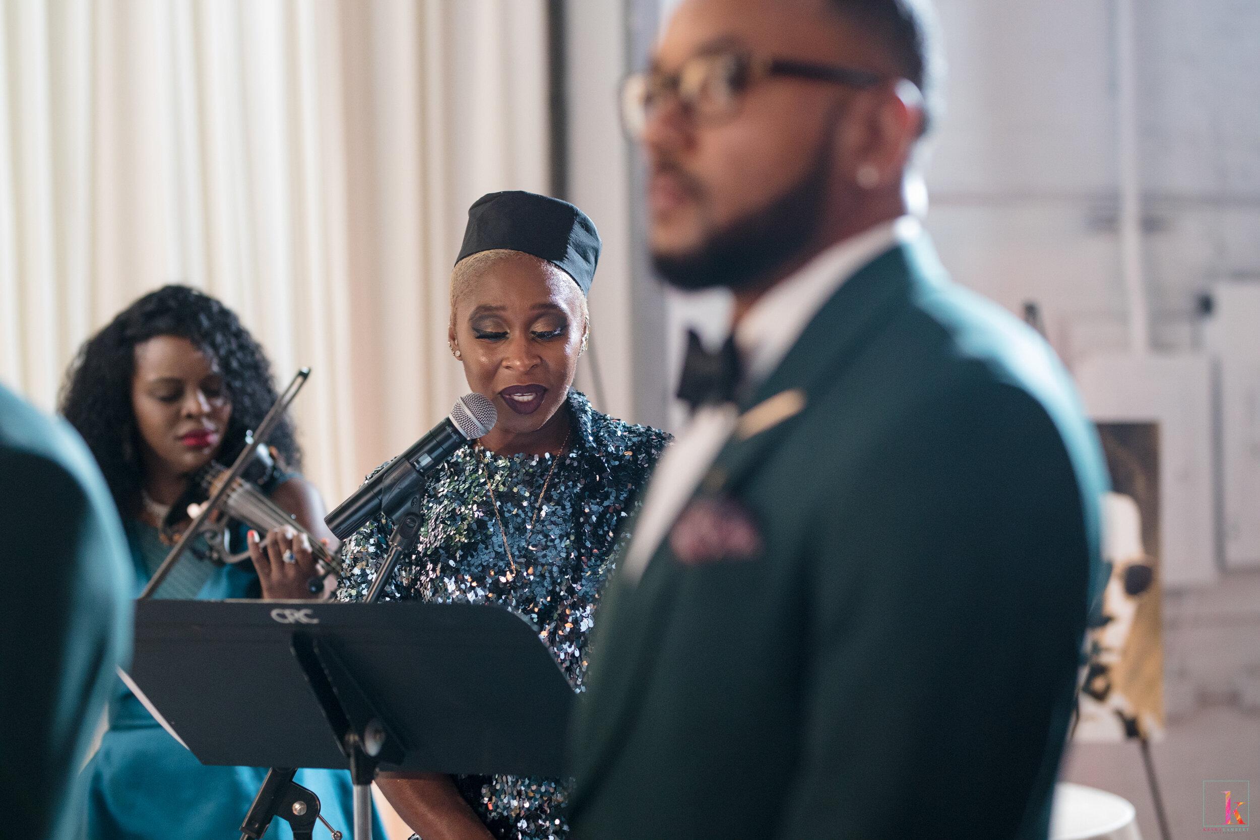 Luvvie Ajayi and Carnell Jones Wedding Celebration Cynthia Erivo