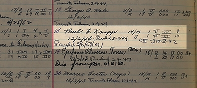 In and out… - It appears Knapp paroled once in 1944, was sent back, then paroled again in 1958.