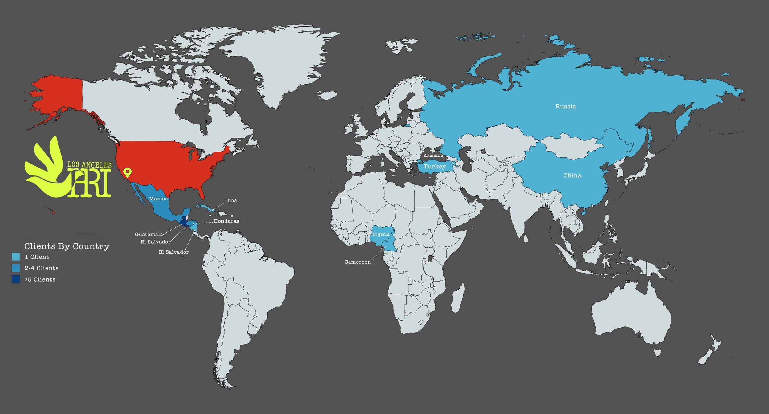 clients by country