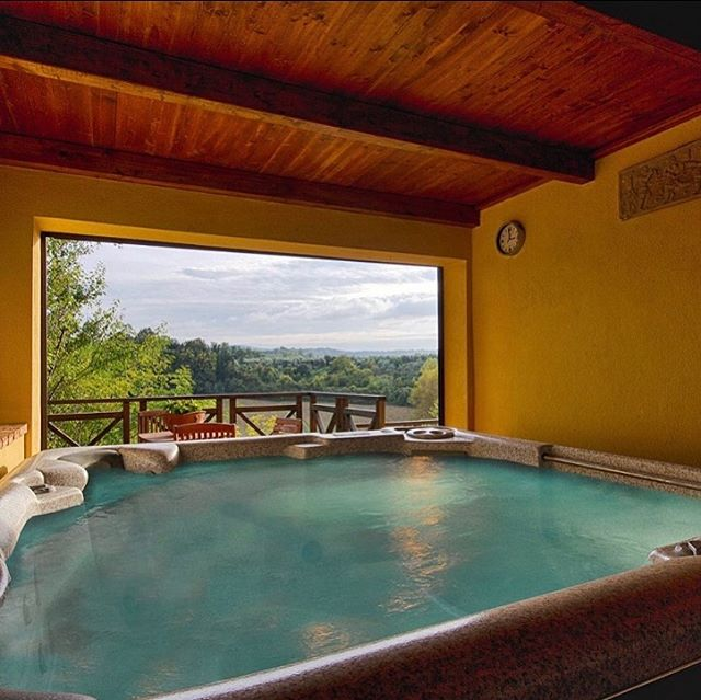 """Amongst the edifices that make up our 22,000sq ft. Tuscan compound is a several hundred year old structure known simply as """"The Fun House."""" It includes a brick pizza oven and a ten person hot tub with never ending views- we plan to make ample use of both. DM to get involved."""