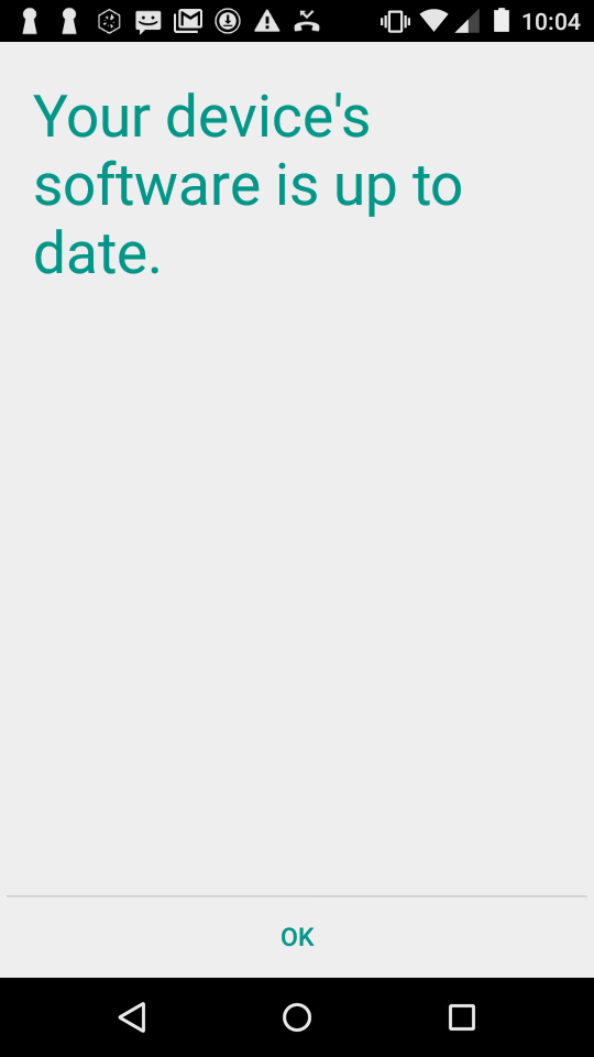 My phone reports that is is up to date and there are no software updates available