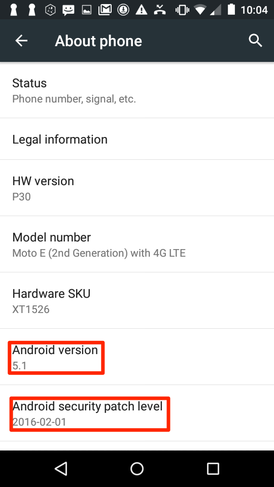 Security patch level is almost three years old