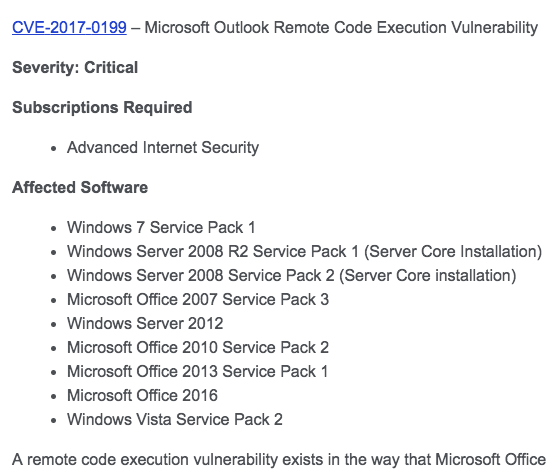 Early access subscribers get protection before Patch Tuesday patches are installed