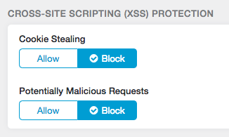 Security proxies can block Cross-Site Scripting (XSS) and malicious JavaScript
