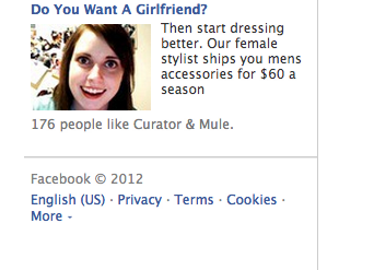 Creepily tailored ads on Facebook