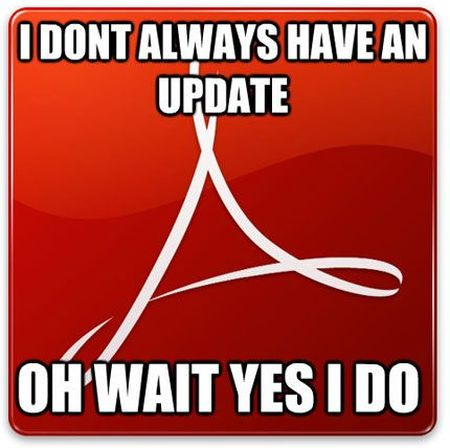 Between Flash and Acrobat, Adobe is always pushing security updates