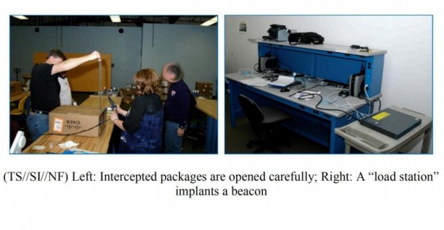The NSA intercepted Cisco equipment in transit and inserted implants