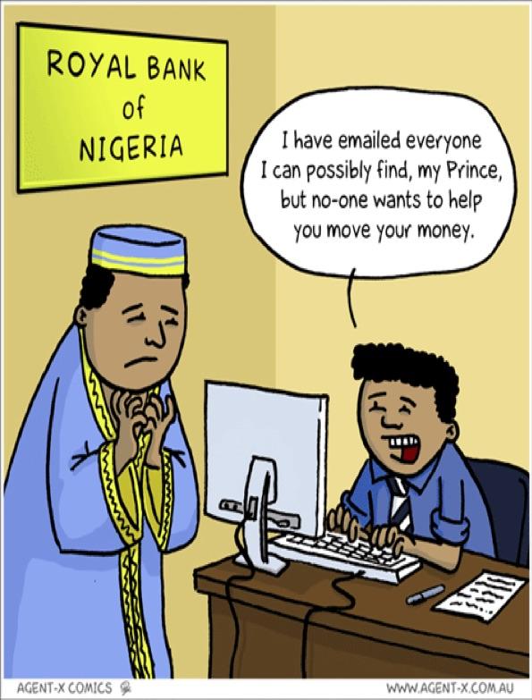 Typical Nigerian 419 scam