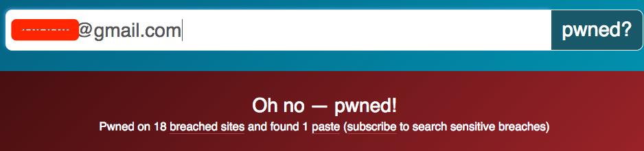 I've been pwned