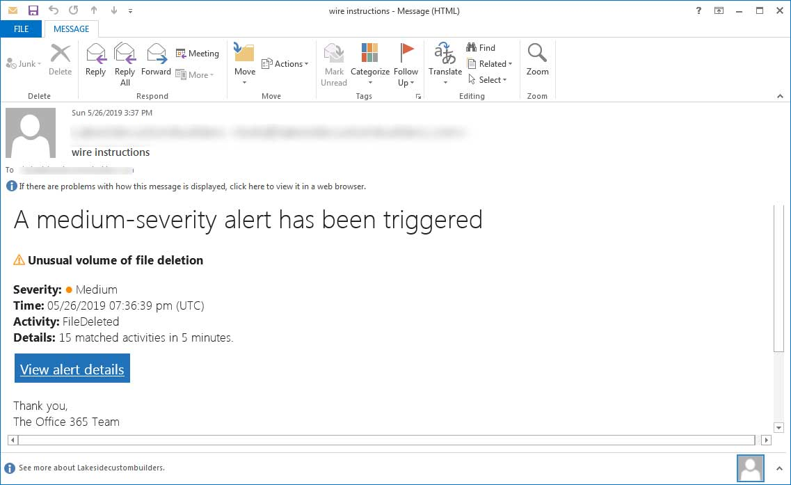 Phishing e-mail meant to panic users into doing something unwise