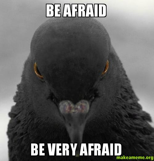 It's your turn to be afraid