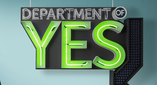 Transform the department of NO to the department of YES