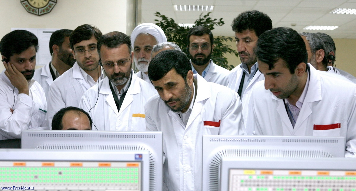 This image released by Iran's state media showed the centrifuge layout for part of the Natanz facility.