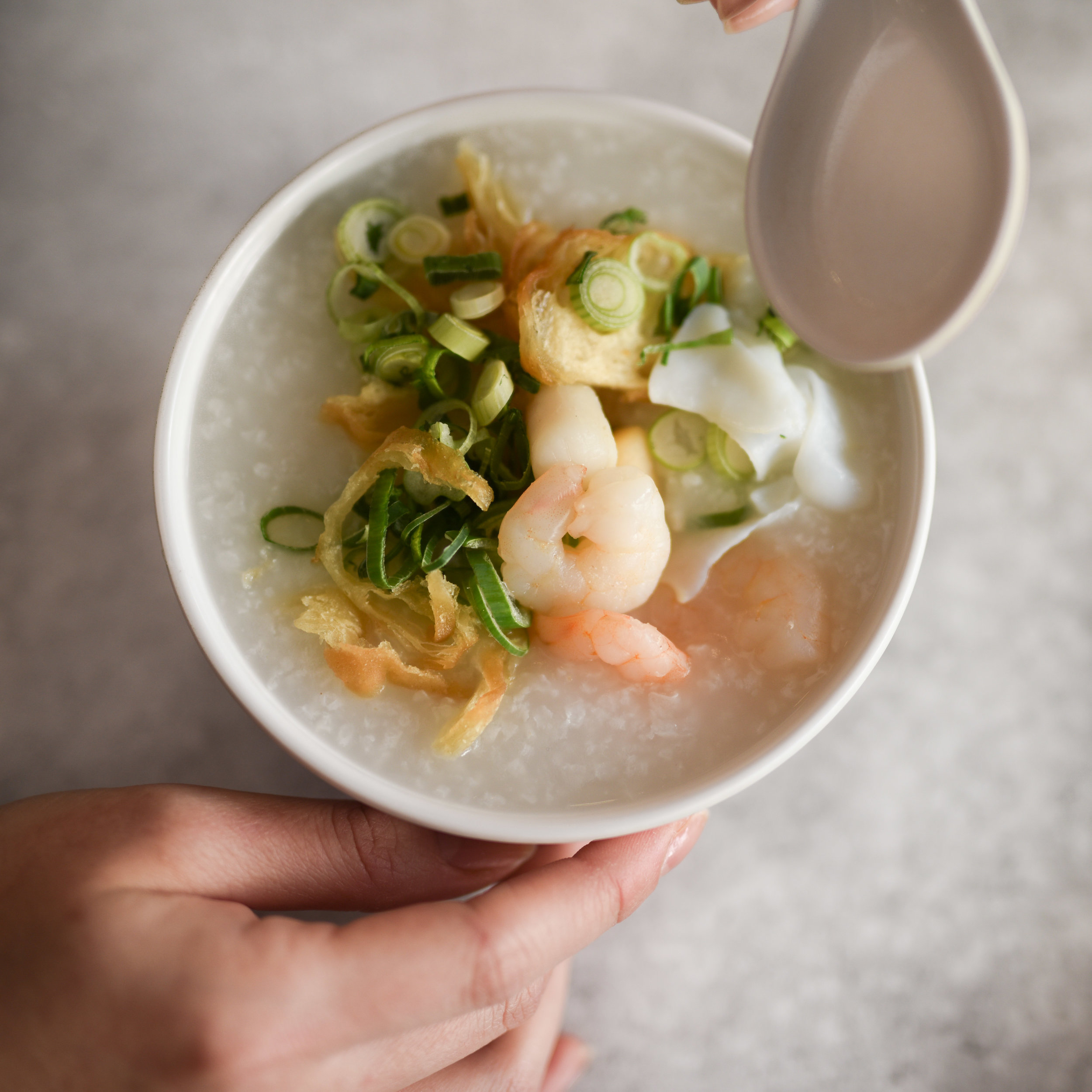 CONGEE WITH SEAFOOD $8.80