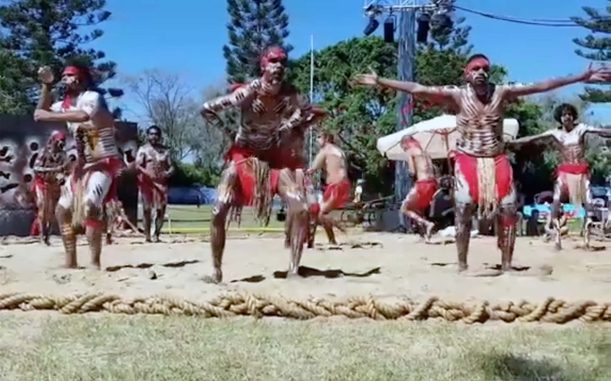 """2.Aboriginal Traditional Dance / Australia / Papua New Guinea - Aboriginal Traditional Dance is closely associated with songs and it used to be experienced as making present the reality of the Dreamtime. Some groups held their dances secret or sacred. Dancers would imitate the actions of a particular animal in the process of telling a story. In some ceremonies men and women would have separate ceremonial traditions. Dancing styles varied among hundreds of tribes. Dancing was done with set arm, body and foot movements with a lot of foot stamping. The best dancers and singers were highly respected. Serious ritual or sacred dancing was quite distinct from light hearted camp dancing that men, women and children could share. The term """"corroboree"""" is commonly used to refer to Australian Aboriginal dances, however it comes from the people of the Sydney region. In some places, Australian Aboriginal people perform corroborees for tourists."""
