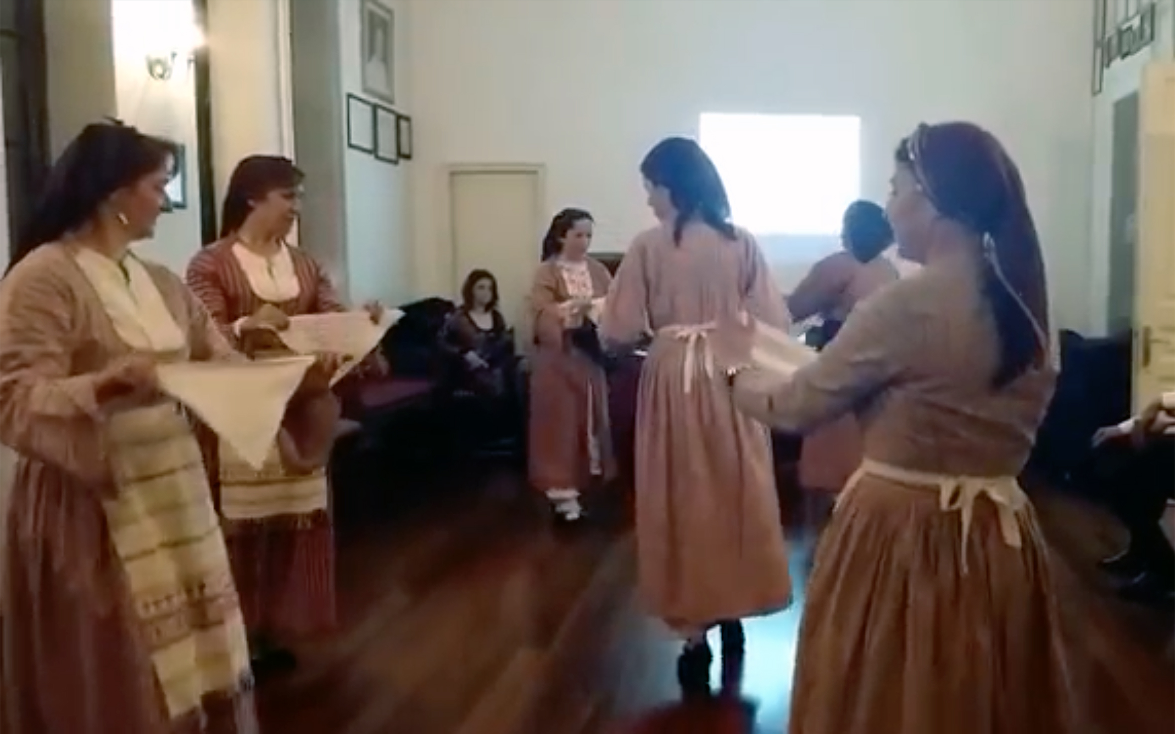 """33.Antikristos / Cyprus - Antikristos is a dance of Greek origin. In Greek language it refers to the verb """"to be across, opposite, face-to-face"""". It is also known in Armenia and it has similarities with karsilamas dance. It is danced in couples."""