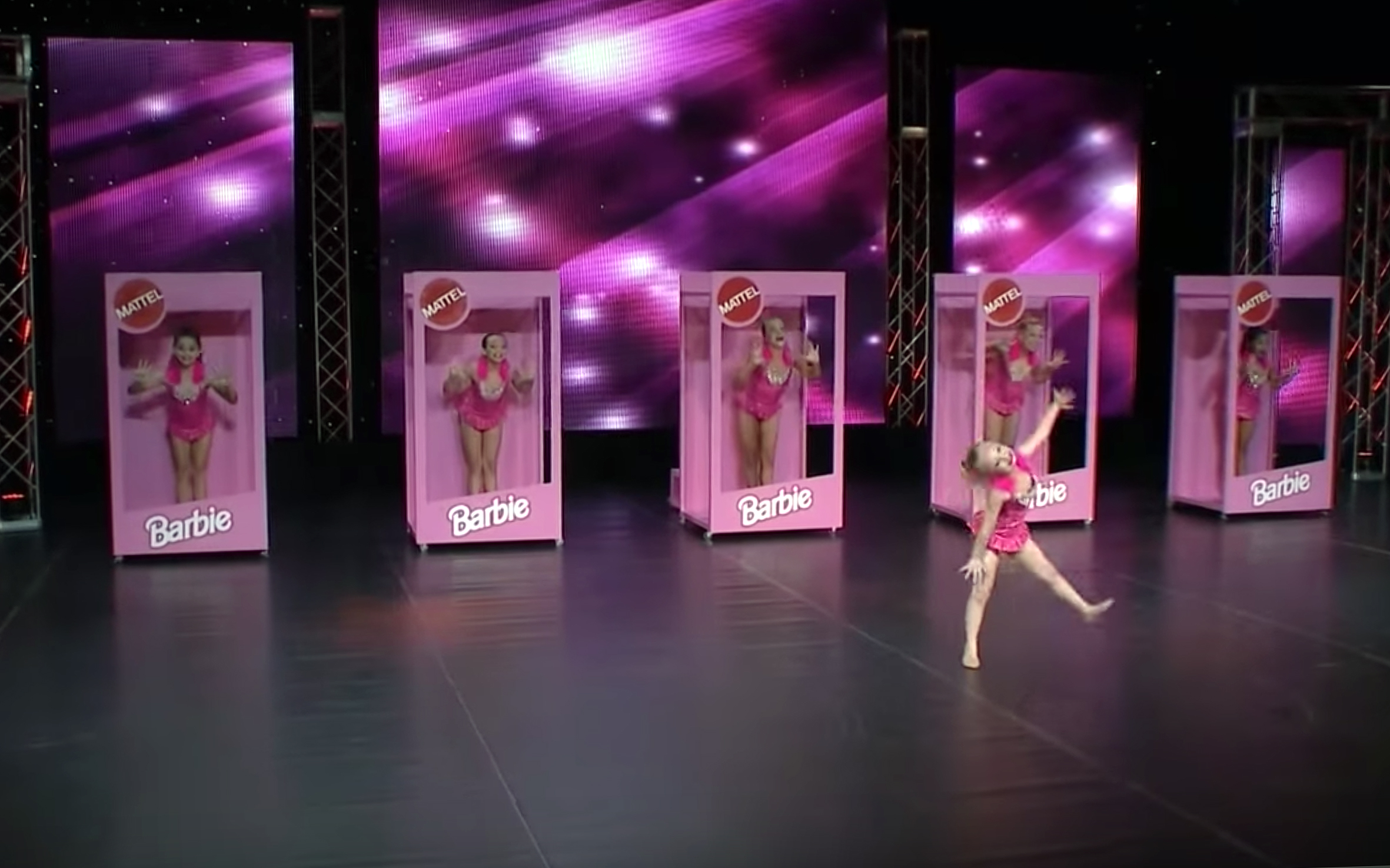 79.Barbie Dance / Global - Barbie Dance is a dance style mostly performed by children who act like a Barbie or twirling ballerina dolls that allow girls to control the choreography like a Barbie doll to bend into a classic pliéa with her body spinning gracefully, causing her skirt to twirl.
