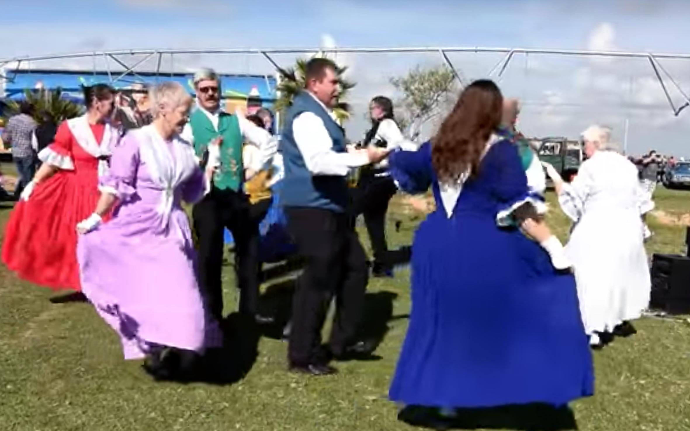 946.Volkspele / South Africa - Volkspele is a South African folk dance tradition. Volkspele means