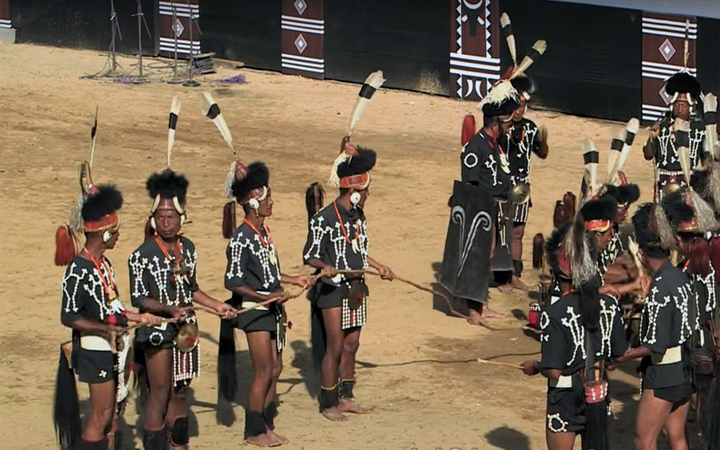 149.Chang Lo / India - Chang Lo dance is performed by Chang tribe of Nagaland, India. They perform the dance to celebrate their victory against enemies. It is a three-day festival where different forms of theatre and performing arts are performed.