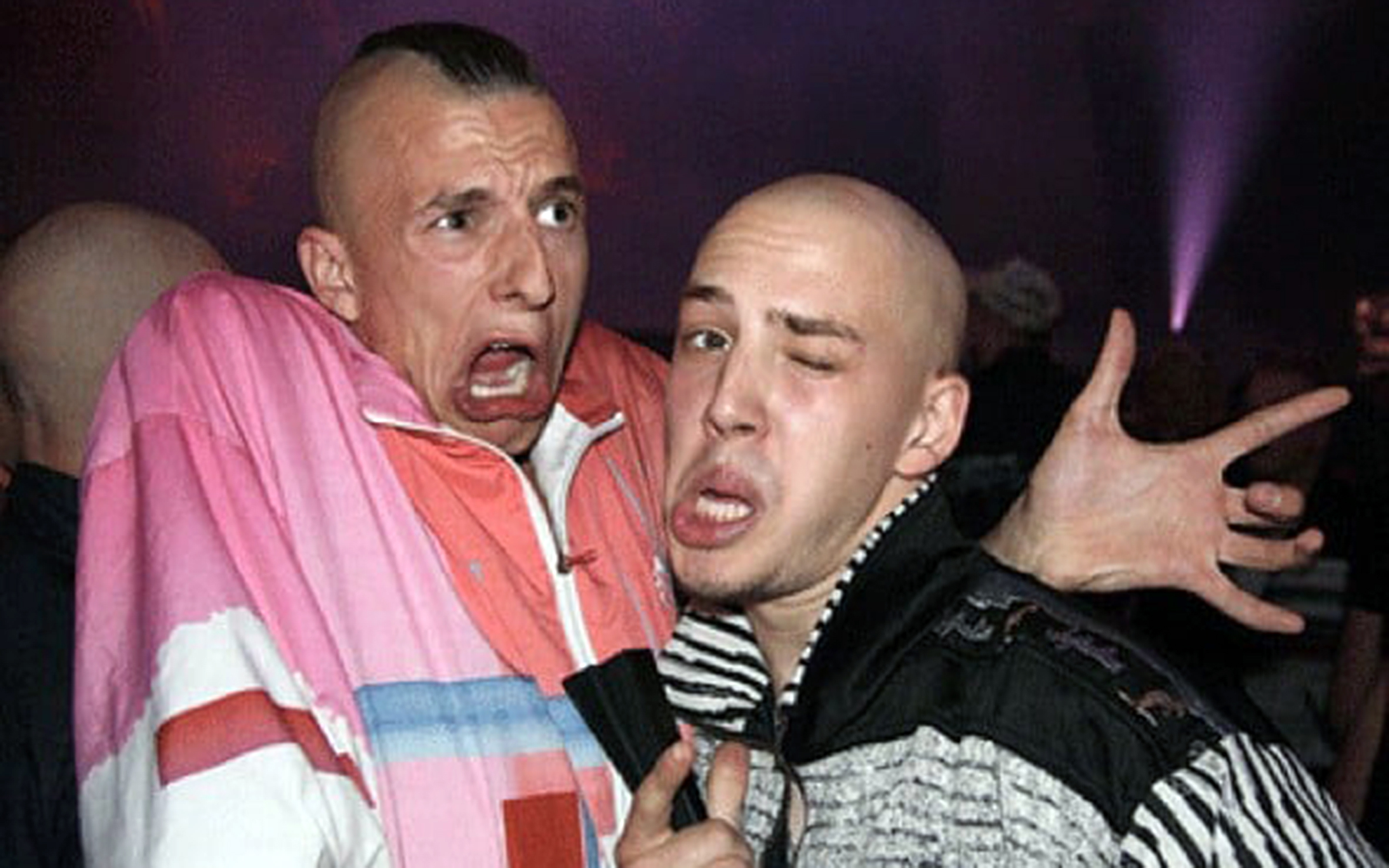 308.Gabber / The Netherlands - Gabber is the only Dutch subculture that got known globally and is now called hardcore after the music hard-style genre that it is performed to. Gabber dance consists of small steps that quickly follow each other to the rhythm of the bass drum. The lower body (down from the pelvis) is the most important part, though it is not unusual to move the arms and torso too. Because one is supposed to keep up to the beat of the song, the dance is usually done fairly quickly, since the BPM of this music style can easily reach 190 BPM.
