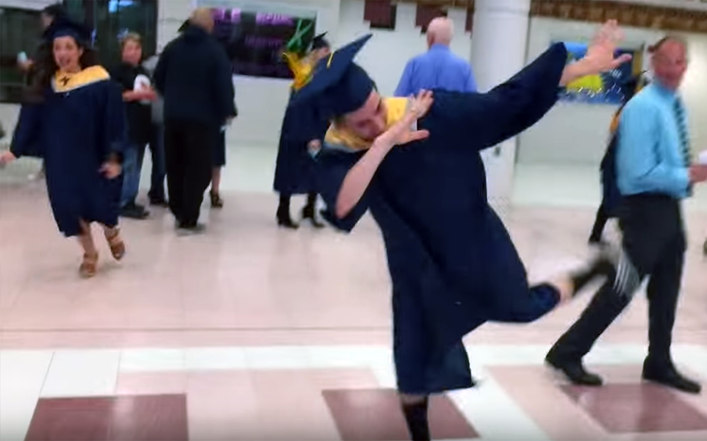 340.Graduate dance / Global - Graduate dance are various dances performed by graduate students upon completion of their studies at their graduation ceremonies or celebrations.