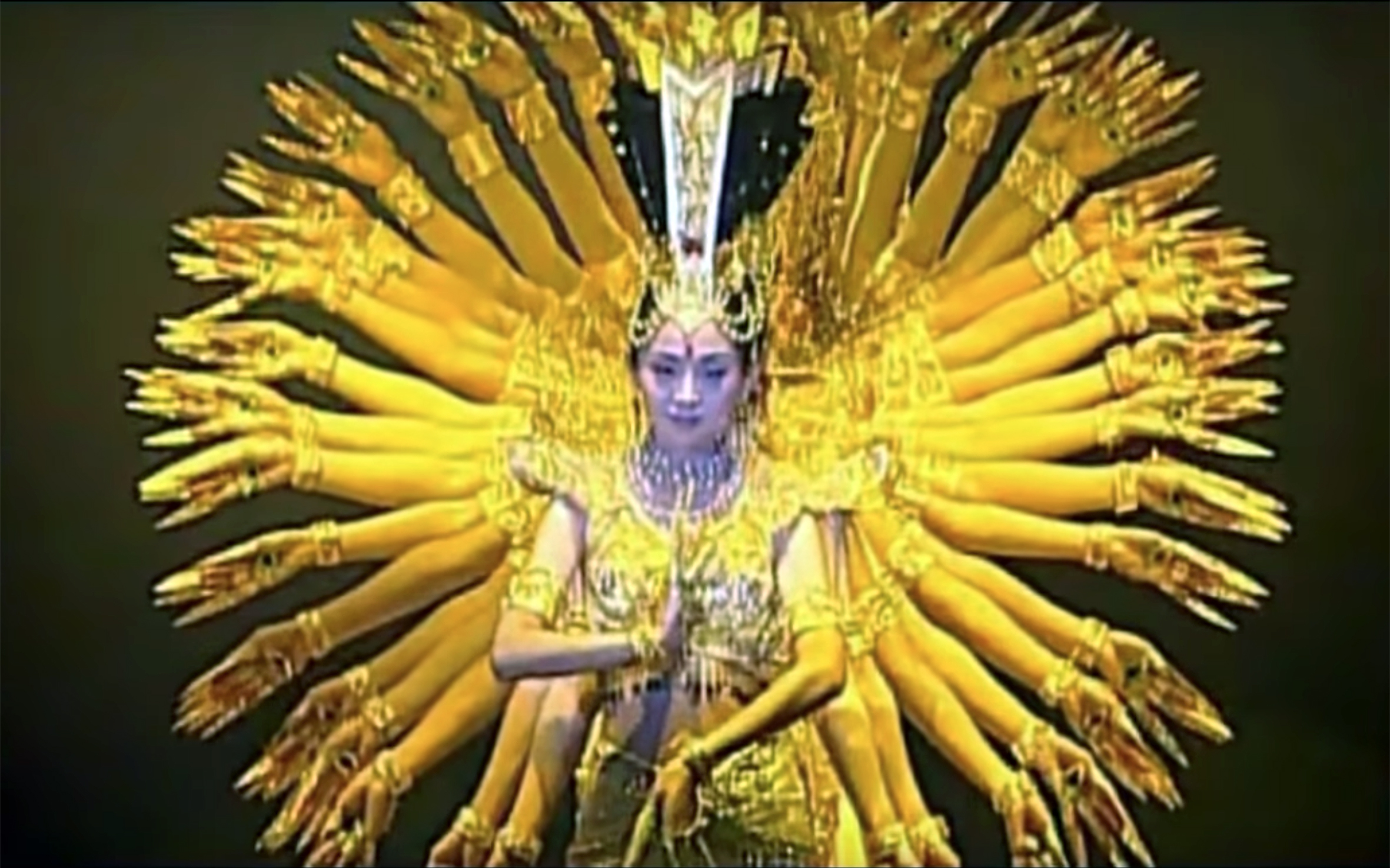 """344.Guan Yin / China - Guan Yin is a thousand hands DANCE, based on Dewi Kwan Im / Mak Kwan Im (""""Mother Guan Yin""""), an East Asian bodhisattva associated with compassion and venerated by Mahayana Buddhists and followers of Chinese folk religions, also known as the"""