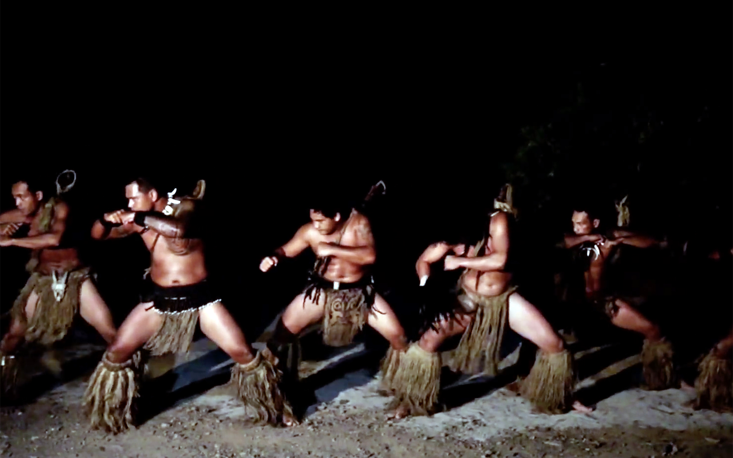 361.HAKA MANU & MAHA'U / French Polynesia - HAKA MANU & MAHA'U is a traditional dance from French Polynesia. It means Bird Dance. There are also different dances based on Haka such as Danse du Cochon, which means Pig Dance, the warrior dances. Polynesian civilisation is based on verbal language allowing them to tell stories, call the spirits, speak to their ancestors. It also materialised during dances.