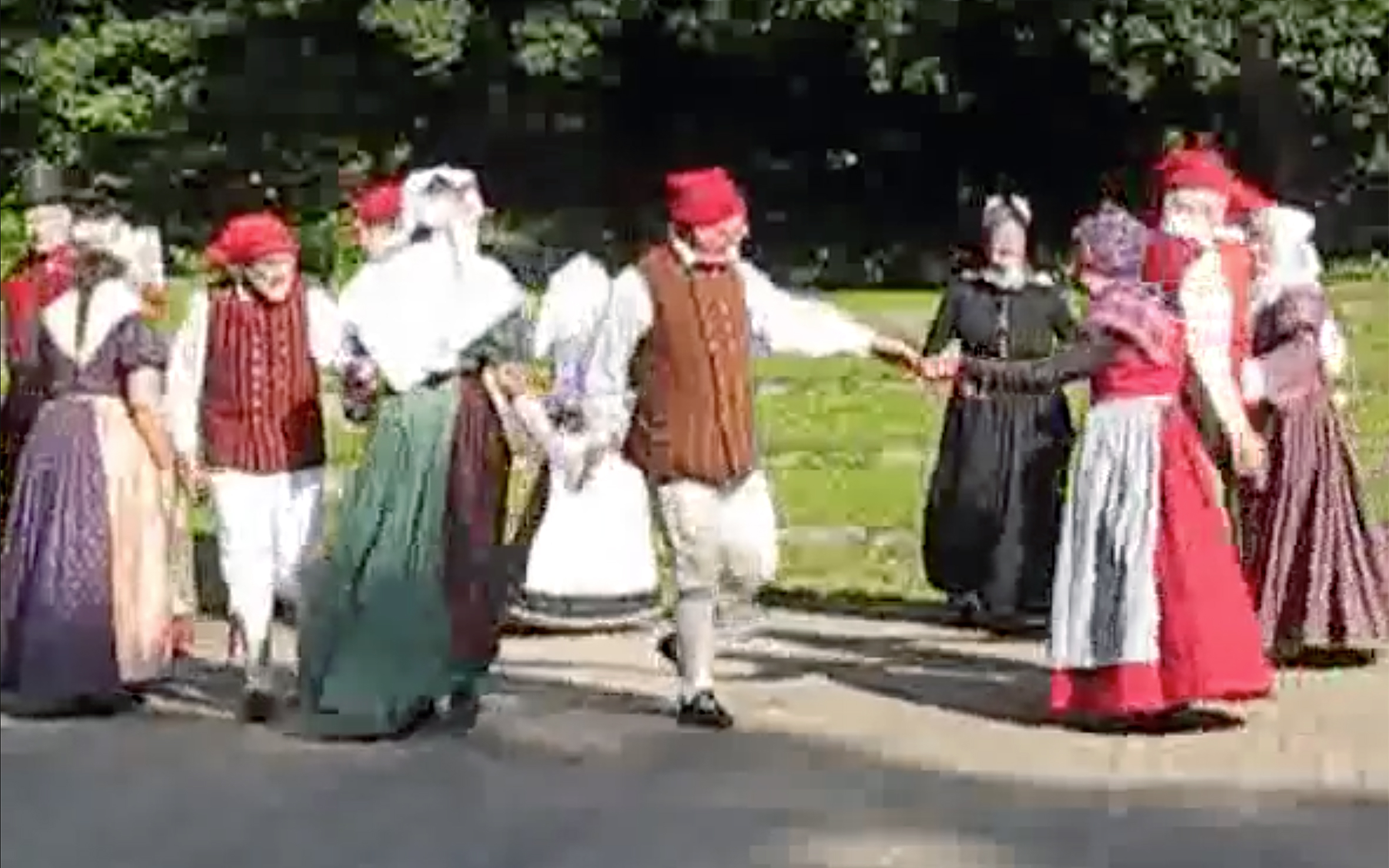 """889.Totur / Denmark - Totur is a folk dance from Vejle in Denmark. The name means """"two figures."""" It is danced by mixed couples in a circle. Basic steps include walking, two-step, grand right and left."""