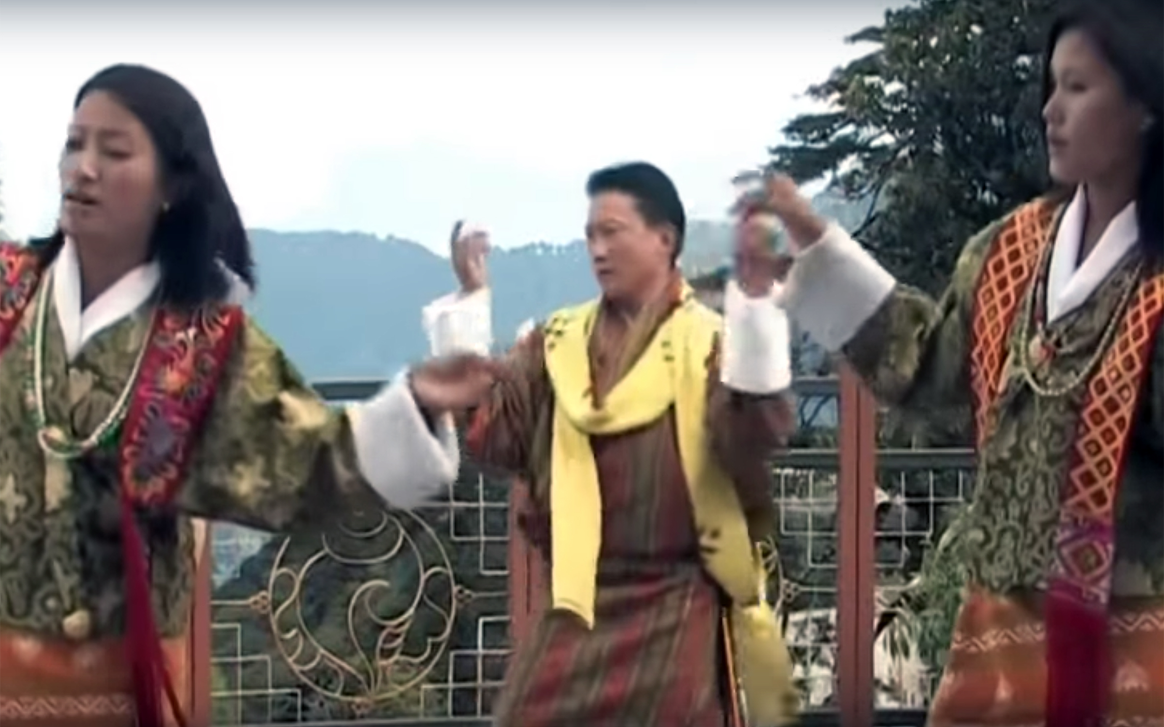 903.traditional nomadic danceS / Bhutan - traditional nomadic danceS by the Nomadic people of Bhutan who live in the eastern (Yak Cham Dance) or western (Layab Dance) parts of the country, are known for their particular dance expressions. The nomads who live in the eastern Bhutan perform dances to honour the local deity known as Aum Jomo (Goddess). The western nomadic yak herders dance is usually performed by men who sometimes dance inside the representation of a yak body.