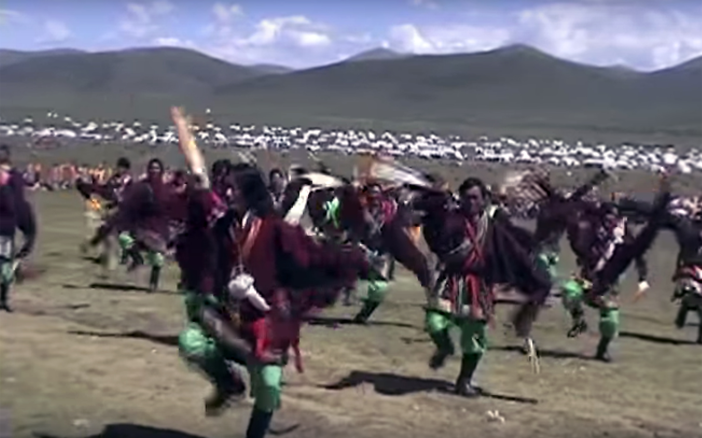 900.Traditional FOLK dances / Tibet - Traditional FOLK dances of Tibet are of a great variety, according to the folk music of each region of the Tibetan plateau, now Autonomous Region of Tibet. Since the Chinese invasion, it has been difficult to pinpoint exact musical terminology and dance steps of each of the originally Tibetan regions due to Internet search barriers that influence language translation and research tools. For this project, all Traditional Dances of Tibet were grouped into one category. As a general description, Traditional Folk Tibetan Dances are usually cheerful, performed by communities and general people, inspired by regional songs and costumes. They praise local deities, celebrate harvesting, represent Buddhist and local deities, and more recently, even unite different regions into dancing to express the hope that Tibetan exiled return to their homeland, like the Lhoka Dances.