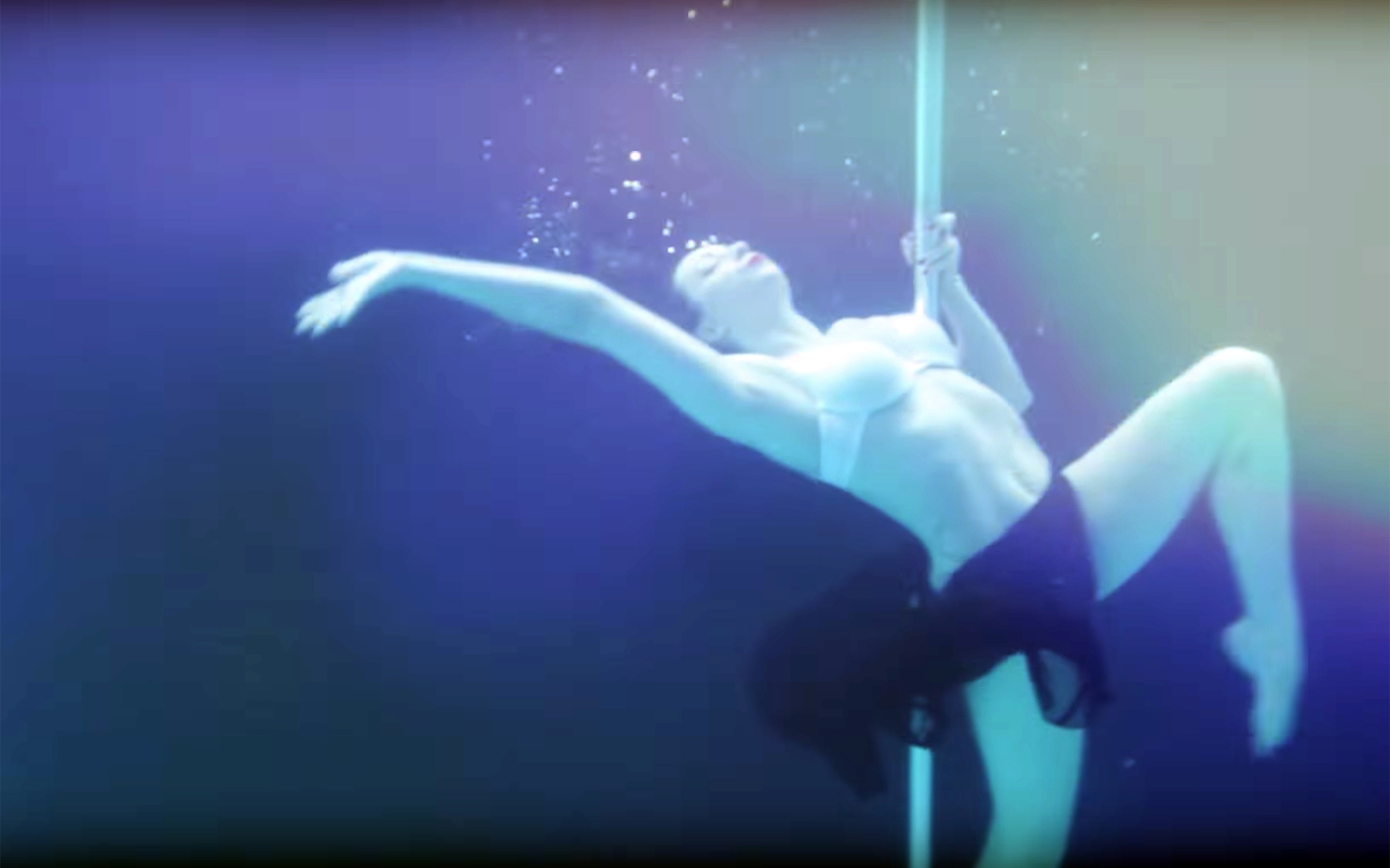 35. AQUABATIC / Global - AQUABATIC is a type of dance related to gymnastic feats performed in water. Pole dancers show off their Aquabatic skills as they run through their routines underwater.