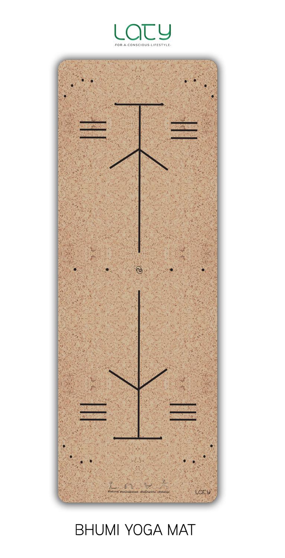Geo  : des repères pour les mains et les pieds, pour une pratique encore plus consciente et ancrée dans le tapis.