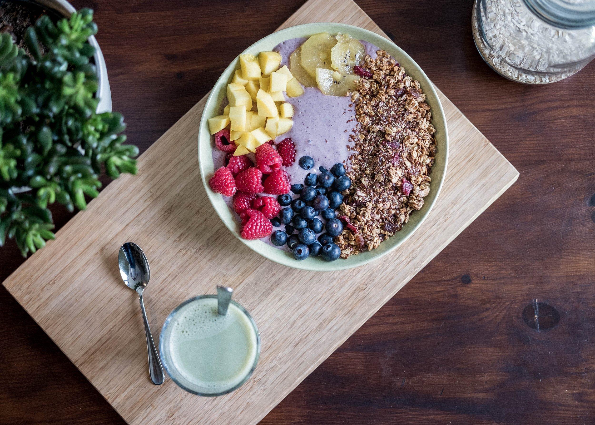 Açai bowl - parfait pour bien commencer la journée
