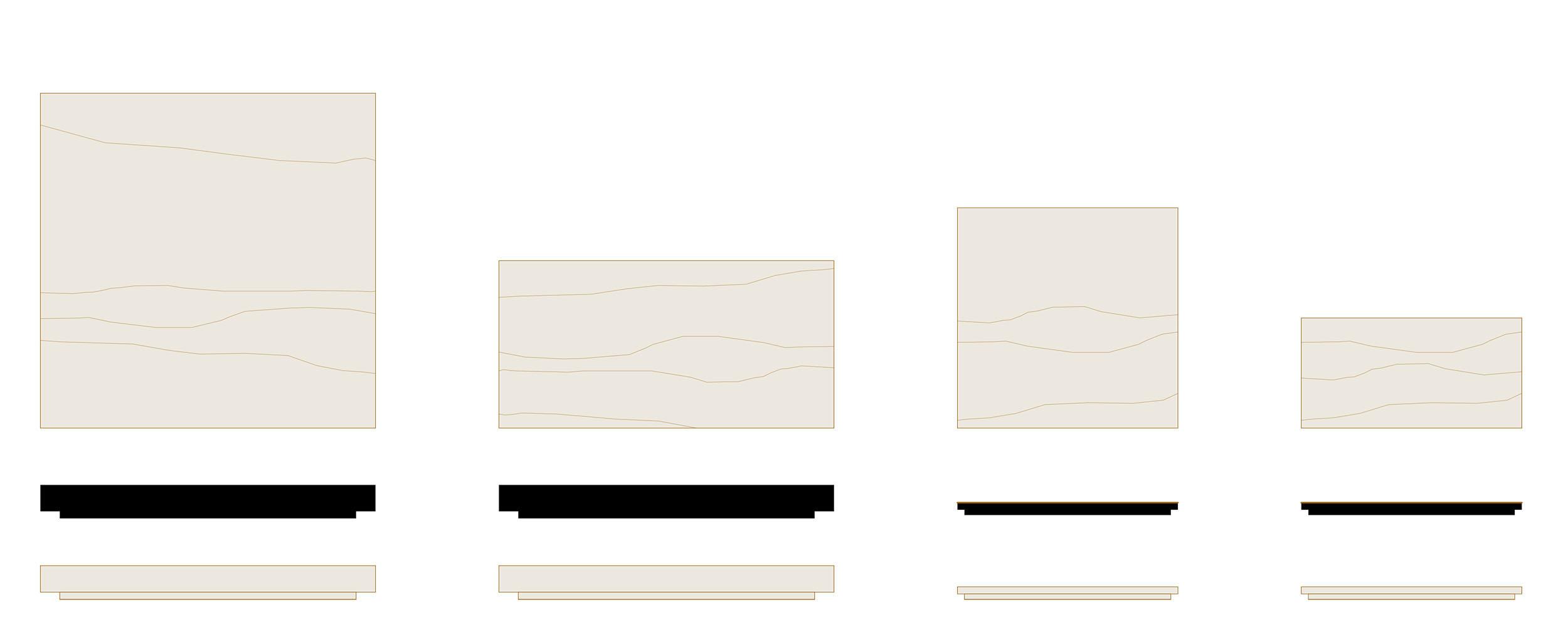 dessins des plaques en chêne
