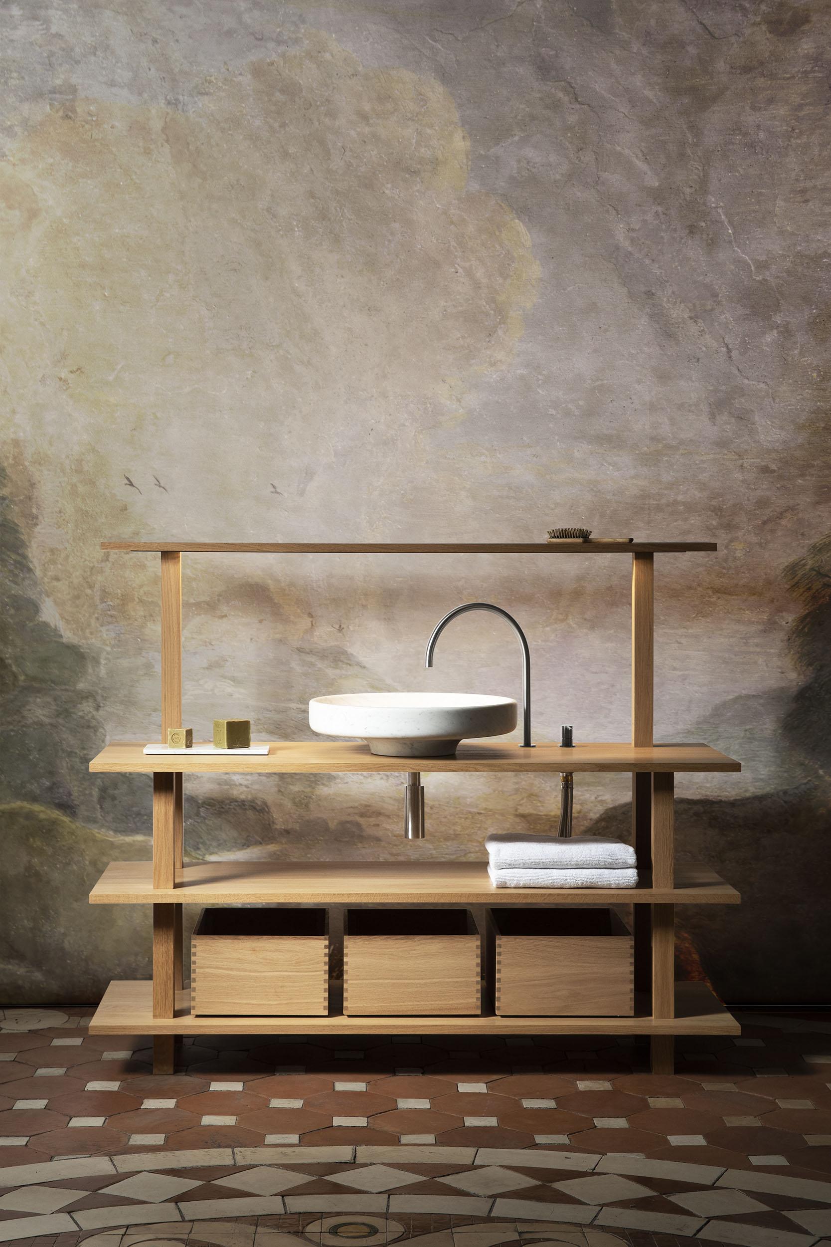 Salle De Bain Marbre De Carrare meubles plateforme pour la salle de bain — objets architecturaux