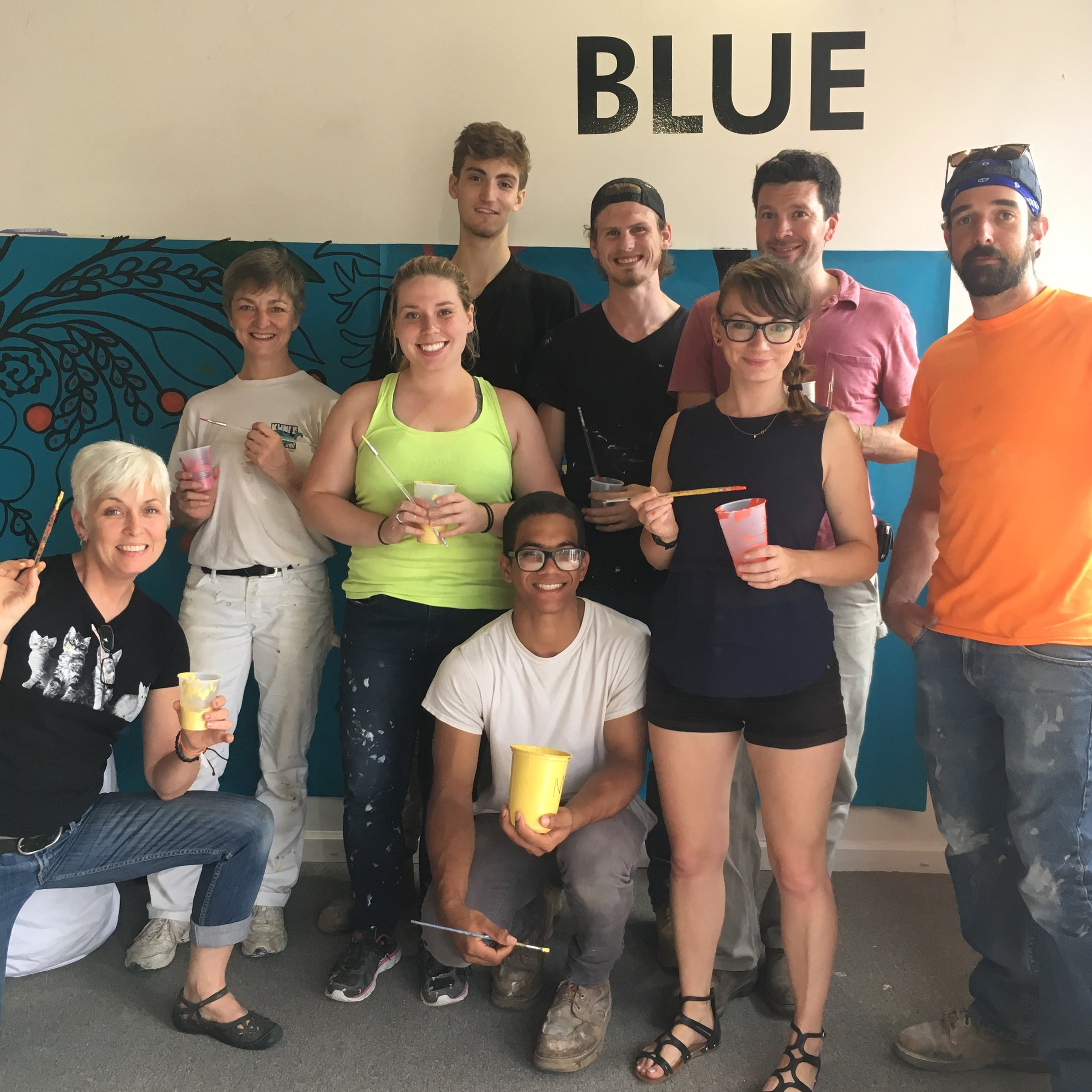 buffalove painting party for the mural - Aug 2017