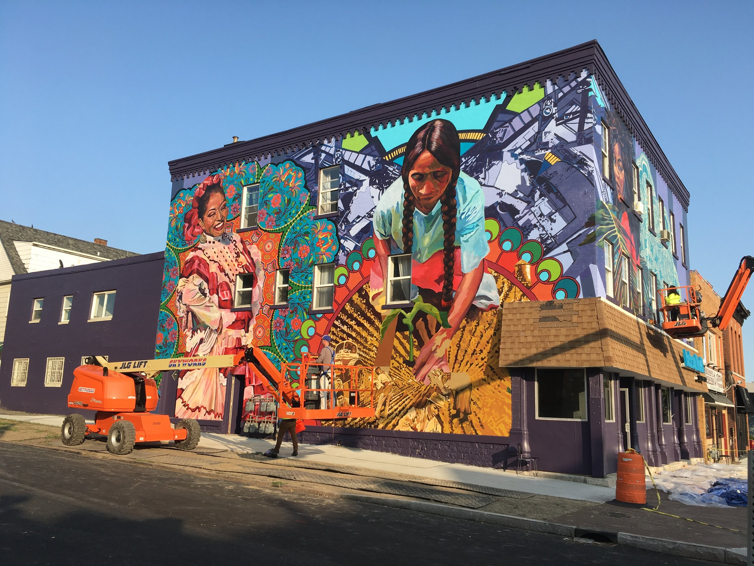 a three story mural dedicated to the hispanic heritage of buffalo - Aug 2017