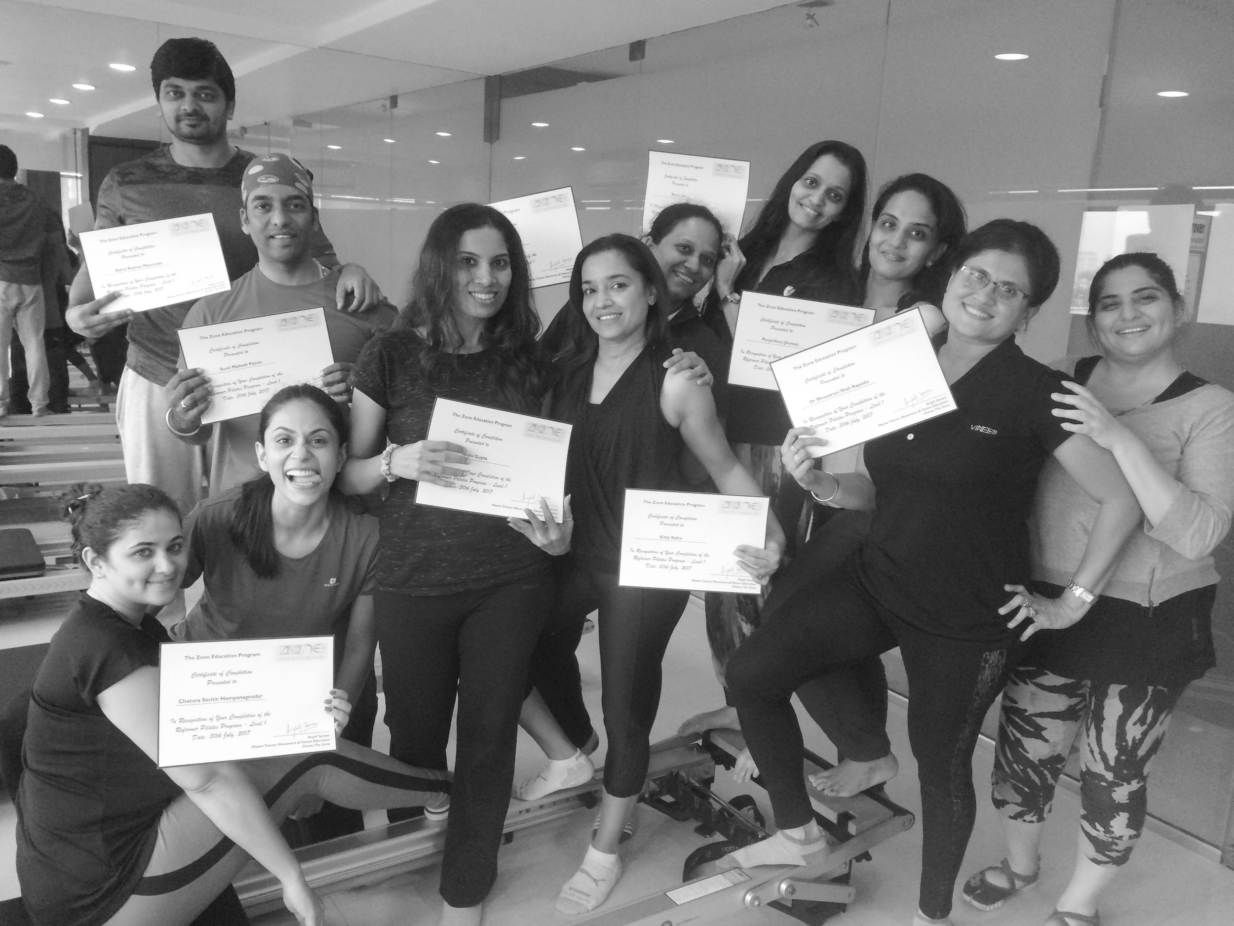 pilates instructor course physios Anjali Sareen Zone Studio