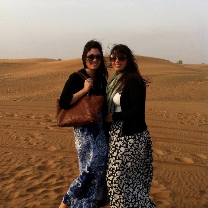 Nadia and I in Dubai, 2012