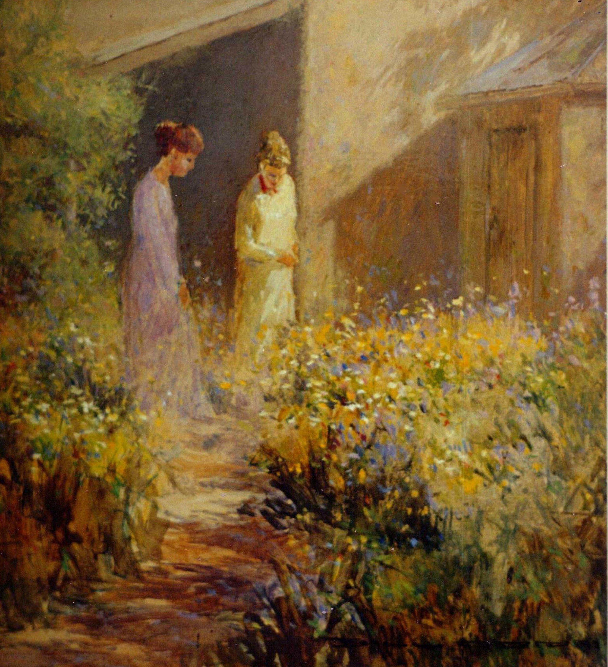 A Cottage Garden by Bill Odd