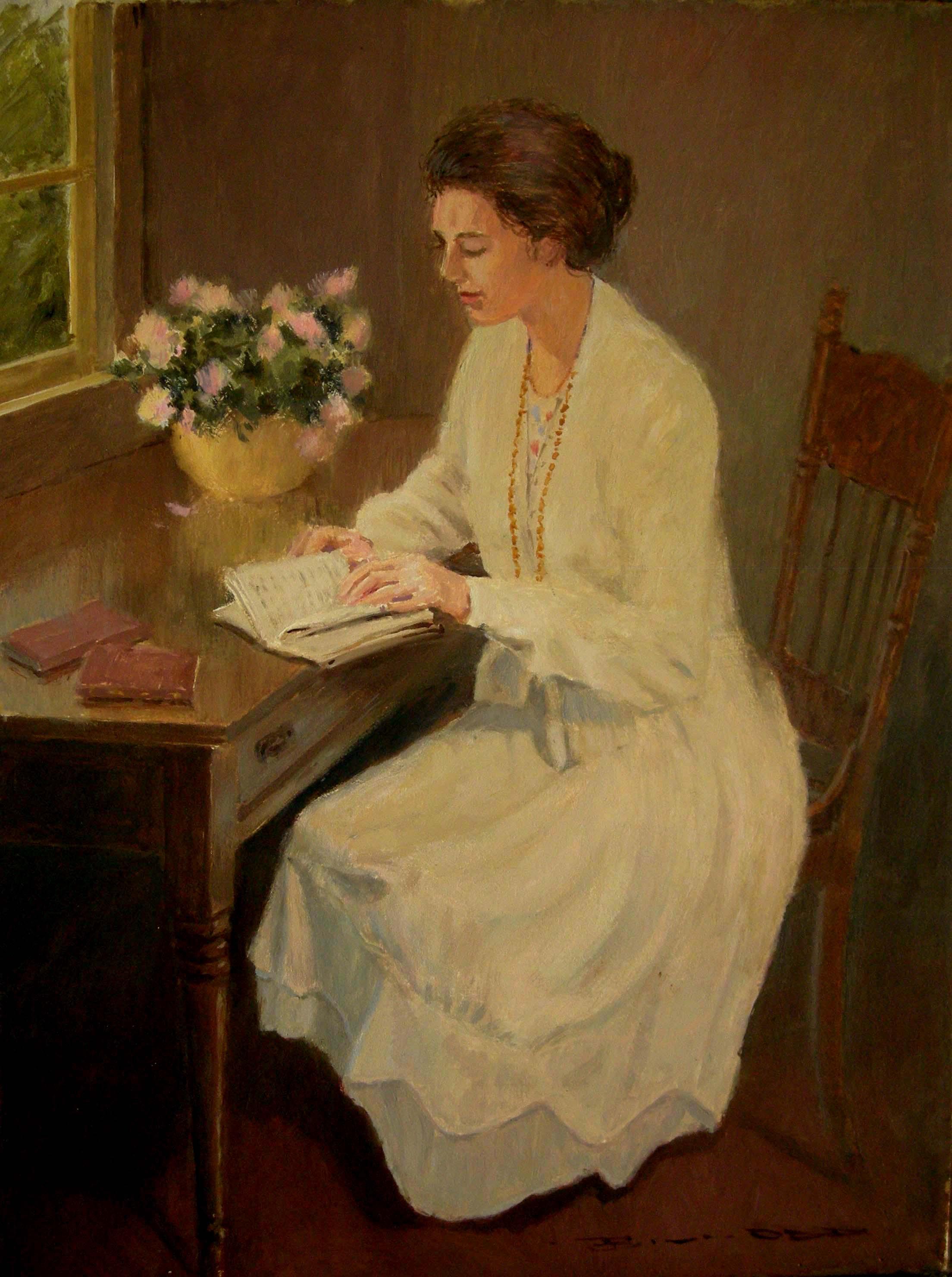 Girl Reading by Bill Odd