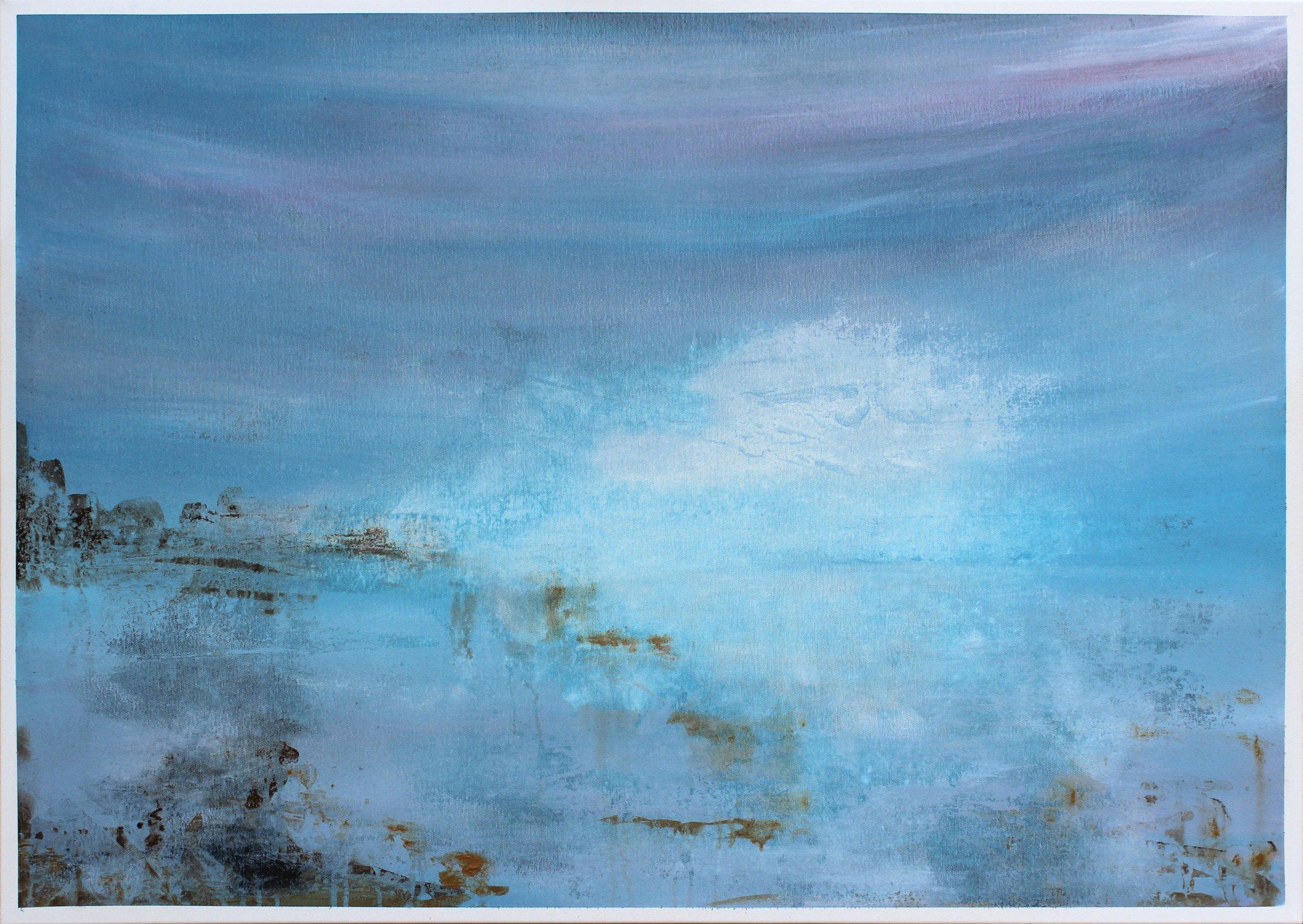 3. GALLAGHER_Martin_White Cloud on Blue Horizon_107cmx76cm_Acrylic on Canvas.jpg